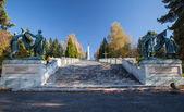 Military cemetery, Slovakia — Stock Photo