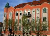 Orange house in Bratislava — Stock Photo