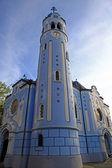 Niebieski kościół w bratysławie — Zdjęcie stockowe