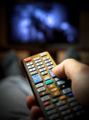 Switching TV channels — Stock Photo