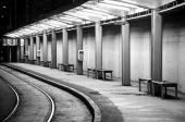 Empty tram stop — Stock Photo