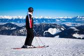 丘 Chopok、スロバキアのスキーヤー — ストック写真