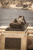 Statue in Valletta, Malta — Stock Photo