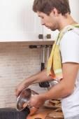 Man at the kitchen — Stock Photo