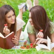 Two girls on picnic — Stock Photo #70078965