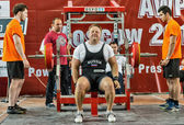 The 2014 world Cup powerlifting AWPC in Moscow. — Stock Photo