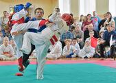 Kyokushinkai karate rekabet. — Stok fotoğraf