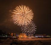 New year's 2015 eve fireworks. — Stock fotografie