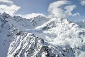 Mountain Baksan valley, Elbrus and Cheget, Russia.  — Stock Photo