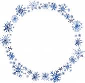 Christmas snowflakes painted watercolors — Stock Vector