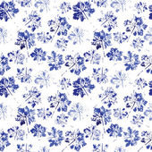 Watercolor pattern of imprint leaves seamless texture background imprint. — Stock Vector