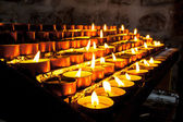 Group of Church Candle in a Row — Stock Photo