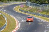 Private Sports Car on the NurnburgRing Racing Circuit in Germany — Stock Photo