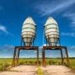 Artistic Impression of Two Silos in a Green Field — Stock Photo #54053801