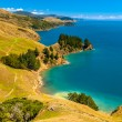 Постер, плакат: Blue water at Marlborough Sounds South Island New Zealand