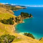 ������, ������: Blue water at Marlborough Sounds South Island New Zealand