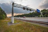 Traffic Sign Gantry — Stock Photo