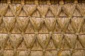 Intertwined Thatched Reed on on a Cottage — Stok fotoğraf