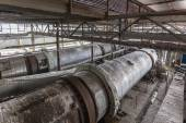 Industrial Building Interior with sodium carbonate Centrifuges — Photo