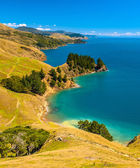 Blue water at Marlborough Sounds, South Island, New Zealand — Stock Photo