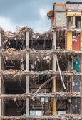 Demolition of a Multi Floor Bulding — Stock Photo