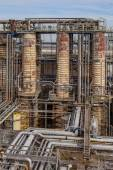 Distillation Towers in an Oil Refinery — Stock Photo