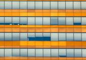 Orange Office Window Background — Stock Photo