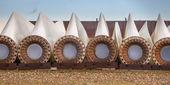 Spare wind turbine blades — Stock Photo