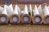 Spare wind turbine wings — Stock Photo