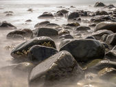 Stones in Blurred Water by Long Exposure — Stock Photo