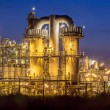 Heavy Industrial Chemical Factory at night — Stock Photo #61739501