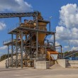Close up of a Sand sorting machine under blue clouded sky — Stock Photo #63614039