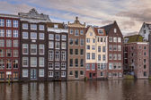 Canal houses Amsterdam — Stock Photo