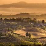 Tuscany Village landscape Scene near Volterra — Stock Photo #66353291