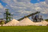 Sand mining station — Stock Photo
