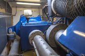 Inside of Wind Turbine Nacelle — Stock Photo