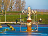 Natural gas production wellhead  — Stock Photo