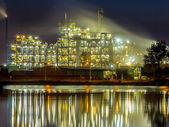 水工业化学工厂详细信 — 图库照片