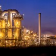 Landscape overview Heavy Industrial Chemical Factory at night — Stock Photo #71150733