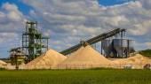 Sand mining terminal — Stock Photo