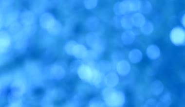 Blurred blue bokeh moving light background — Stock Video