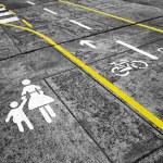 Concept city pedestrian transport asphalt symbol — Stock Photo #71058415