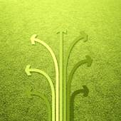 Yellow green color tones illustrated arrow set concept — Stock fotografie
