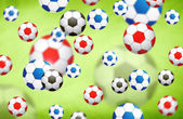 Colorful blurred soccer balls illustration — Stock Photo