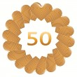 Happy birthday sign for 50 year — Stock Photo #76131817