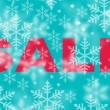 Winter sale with snowflake background — Stock Photo #79345242