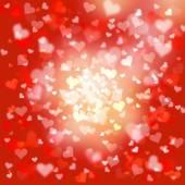 Blurry heart symbols background — Stock Photo