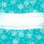 Blue winter celebration decoration — Stock Photo