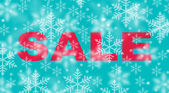 Winter sale with snowflake background — Stock Photo