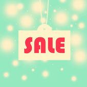 Vintage seasonal sale illustration background — Stock Photo